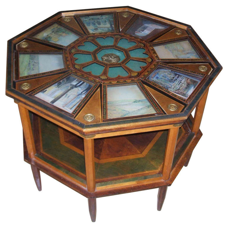Very rare unusual and eclectic octagonal coffee table at Eclectic coffee table makeovers