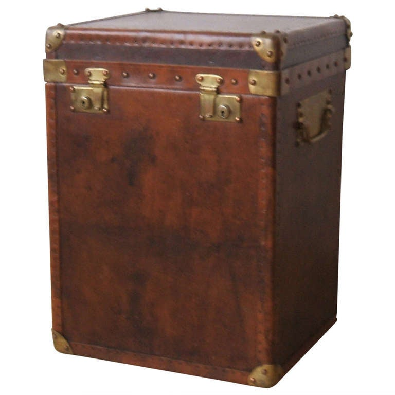 Great little leather trunk at 1stdibs - Leather chests and trunks ...