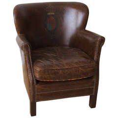 English Petite Lounge Chair in Original Leather