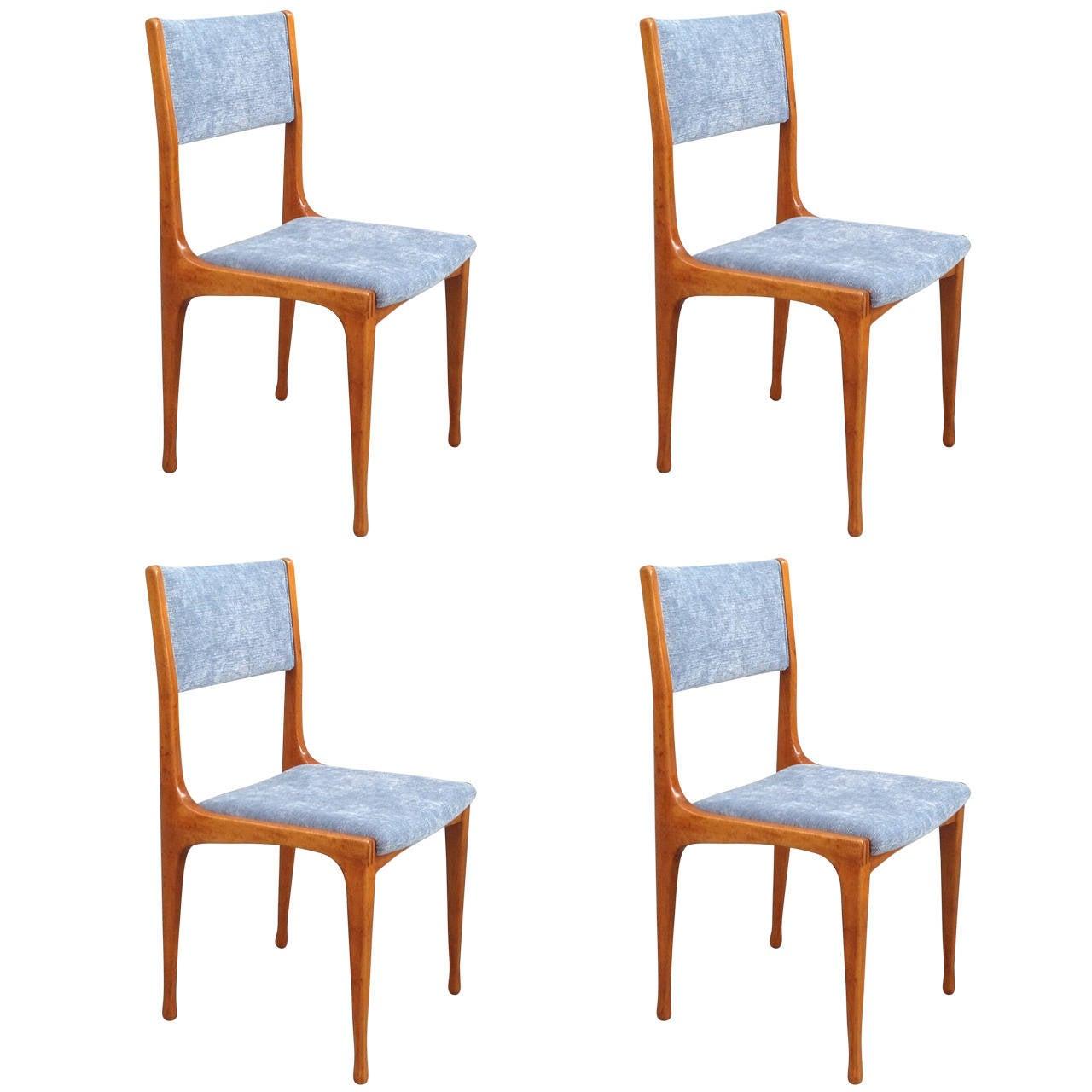 Elegant Set of Four Carlo de Carli Chairs