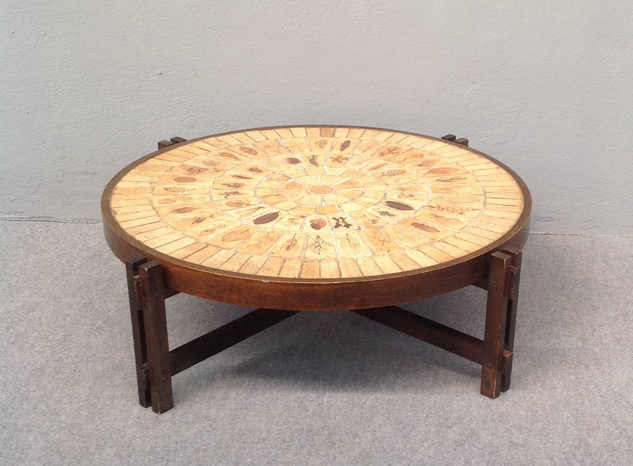 Coffee Table by Roger Capron In Excellent Condition For Sale In Carpaneto Piacentino, Italy