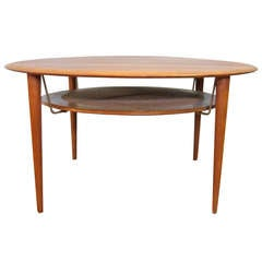 Lovely 1960s, Danish Teak Coffee Table Attributed to Peter Hvidt