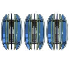Set of Three Veca Wall Lights
