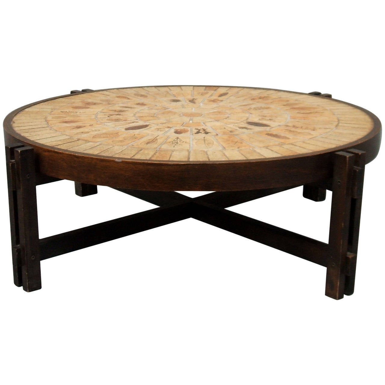 Coffee Table by Roger Capron For Sale