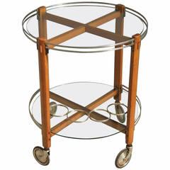 Italian 1960s Round Bar Cart
