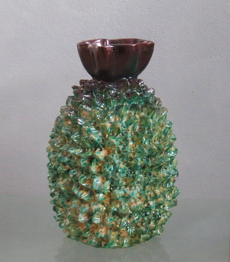 stunning ananas vase for sale at 1stdibs. Black Bedroom Furniture Sets. Home Design Ideas