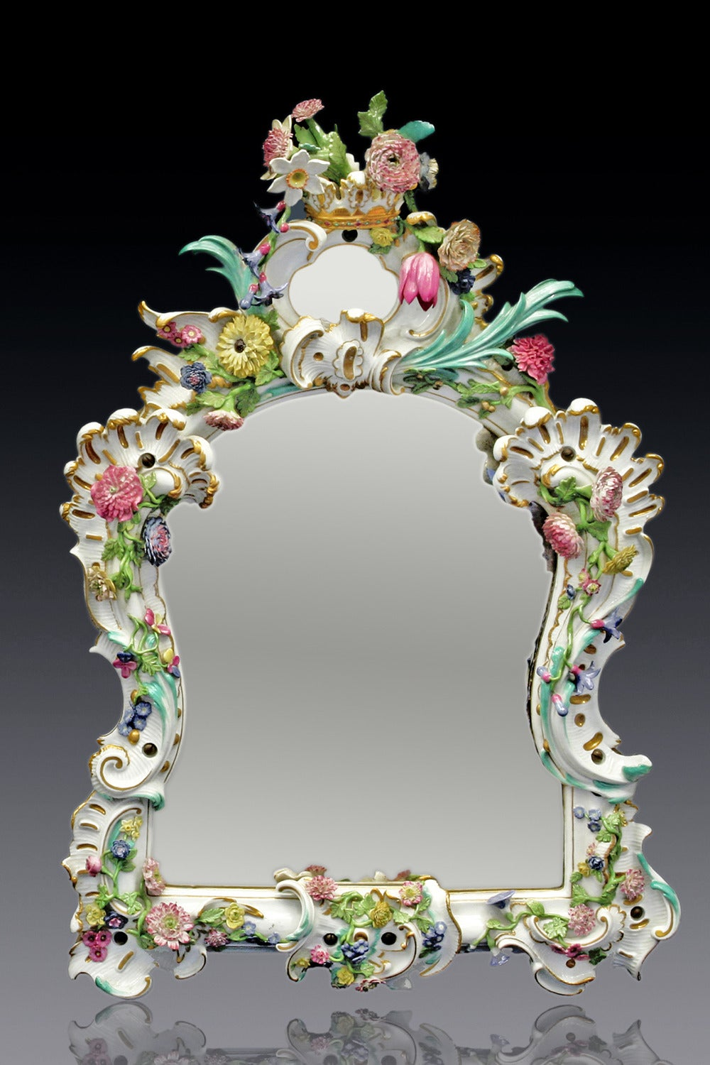 Two Rare And Big Meissen Mirrors For Sale At 1stdibs