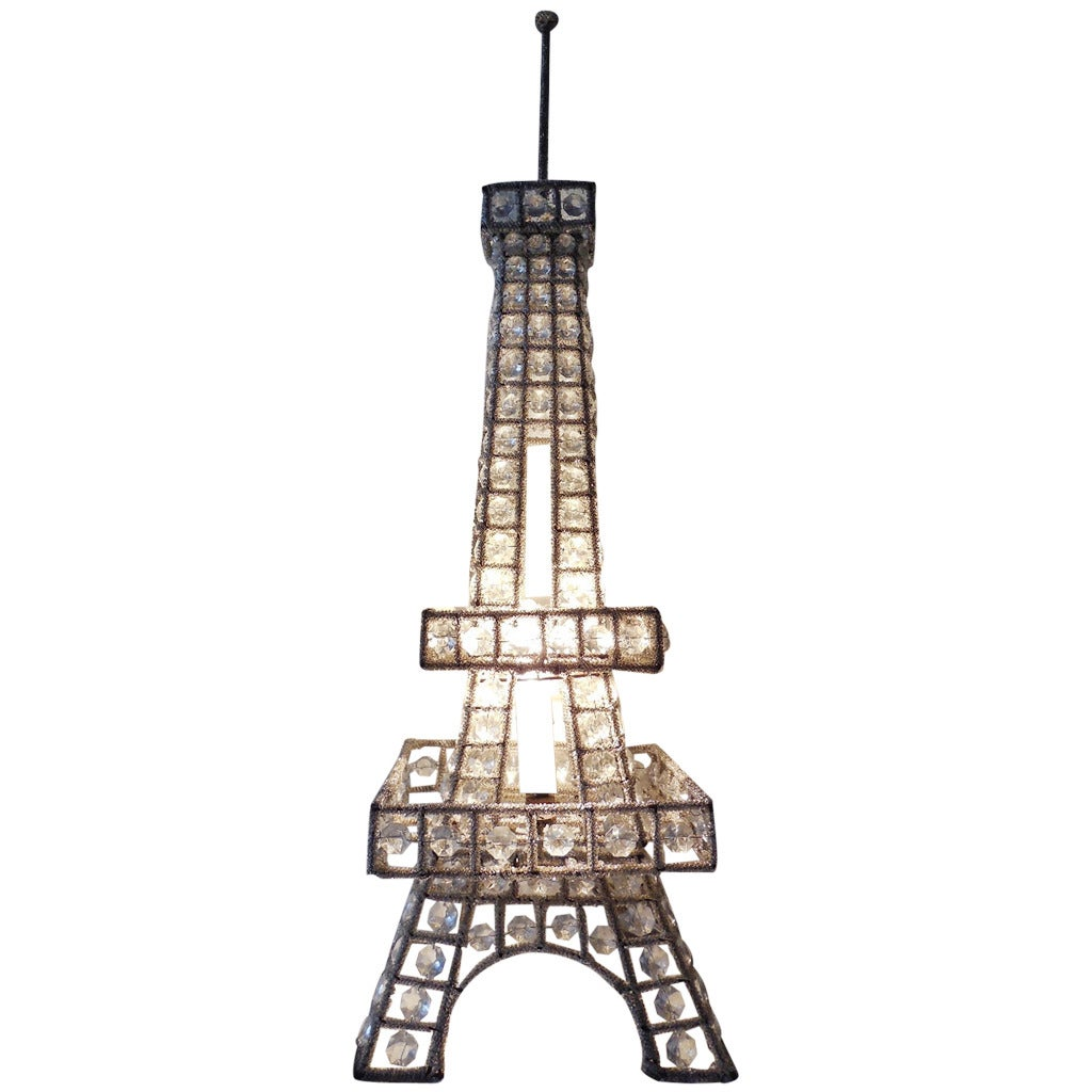 this mid century french beaded eiffel tower lamp 28 tall is no. Black Bedroom Furniture Sets. Home Design Ideas