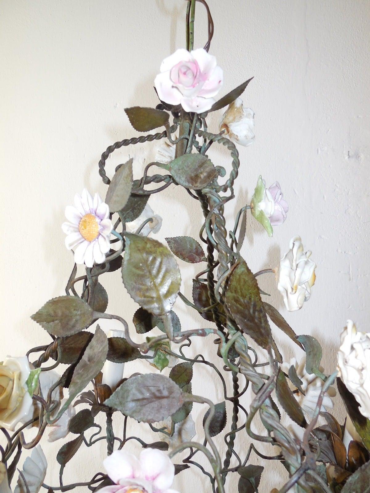 italian porcelain flower chandelier Chandelier Gallery
