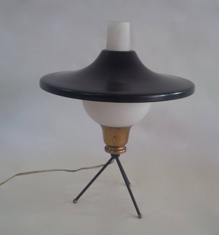 Ufo Table Lamp: Gilardi & Barzaghi Tripod UFO Table Lamp 3,Lighting
