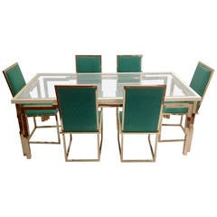 Romeo Rega Double Frame Dining Table with Six Chairs