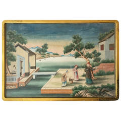 A Late 18th Century Chinese Export Gouache Landscape