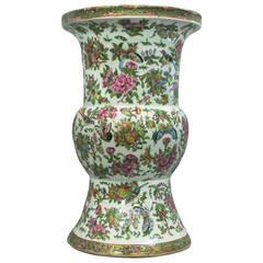 19th Century Large Scale Famille Rose Beaker Vase