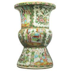 19th Century Canton Beaker Vase