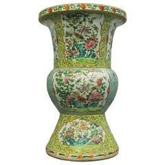 19th Century Famille Rose Beaker Vase