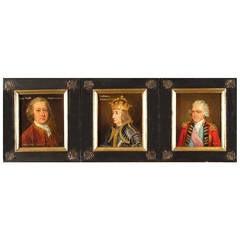 Set of Three Gentlemen Portraits