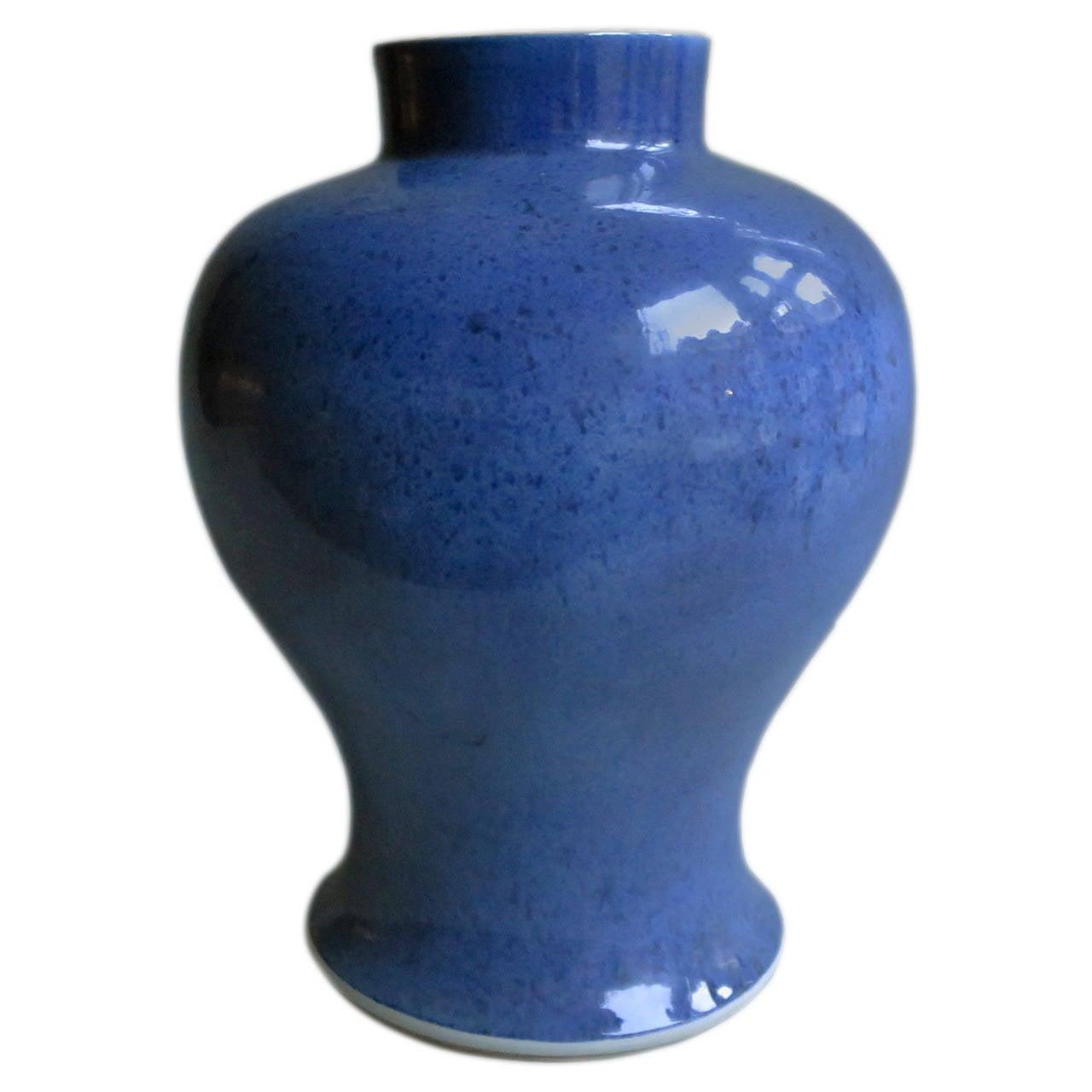 19th Century Blue Ground Vase