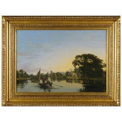 """The View on the Thames at Twickenham"" Painting"