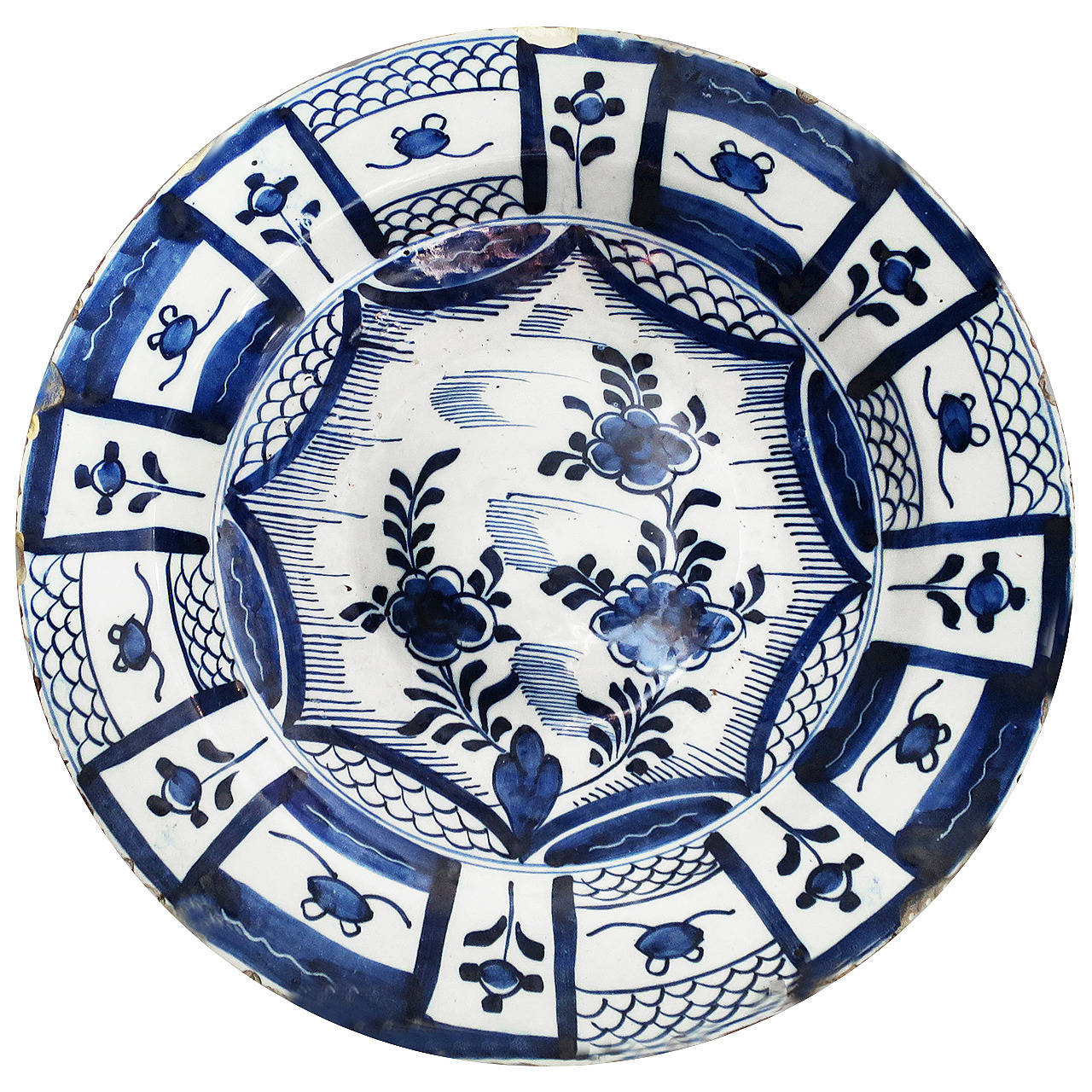 18th Century Blue and White Delft Charger