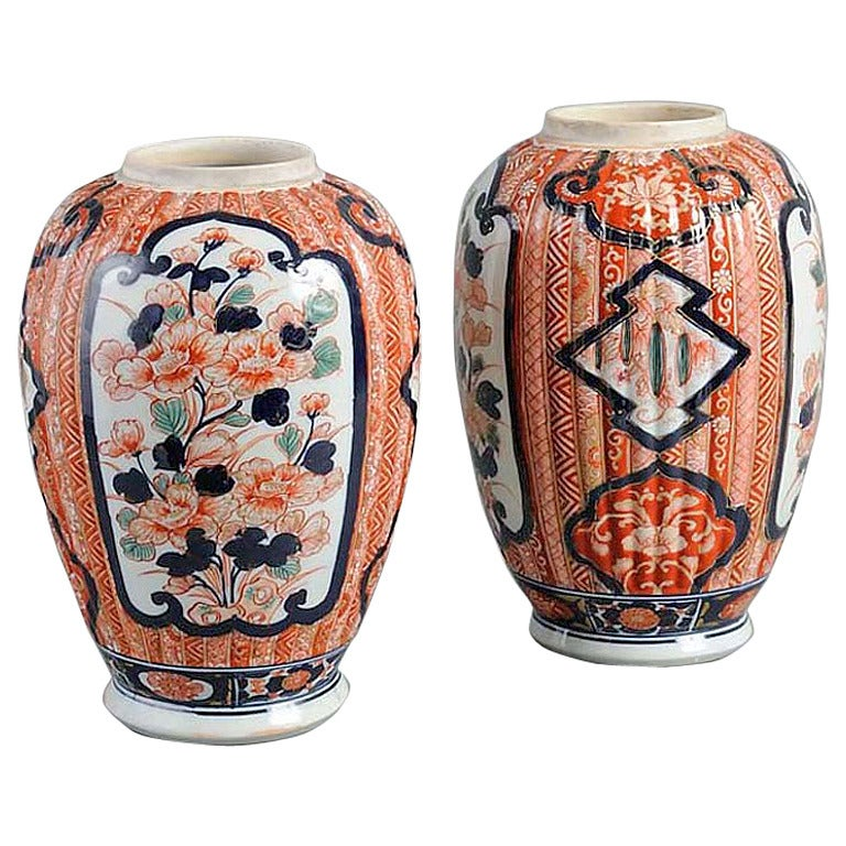 19th Century, Pair of Imari Vases
