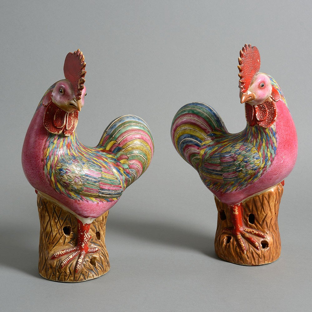 Pair Of Early 20th Century Famille Rose Porcelain