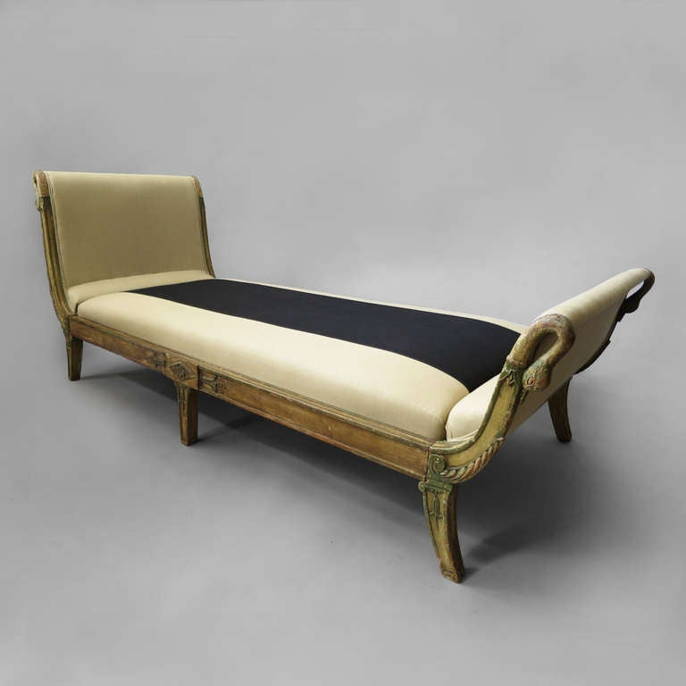 Empire period chaise lounge at 1stdibs for Art nouveau chaise lounge