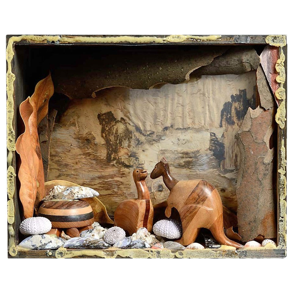 """Desert Australia,"" Diorama Box with Kangaroos and Outback by Andrew Sinclair"