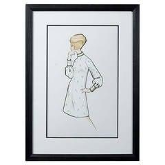 Sir Norman Hartnell, Mid-20th Century Fashion Illustration