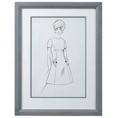 Sir Norman Hartnellm Mid-20th Century Fashion Illustration