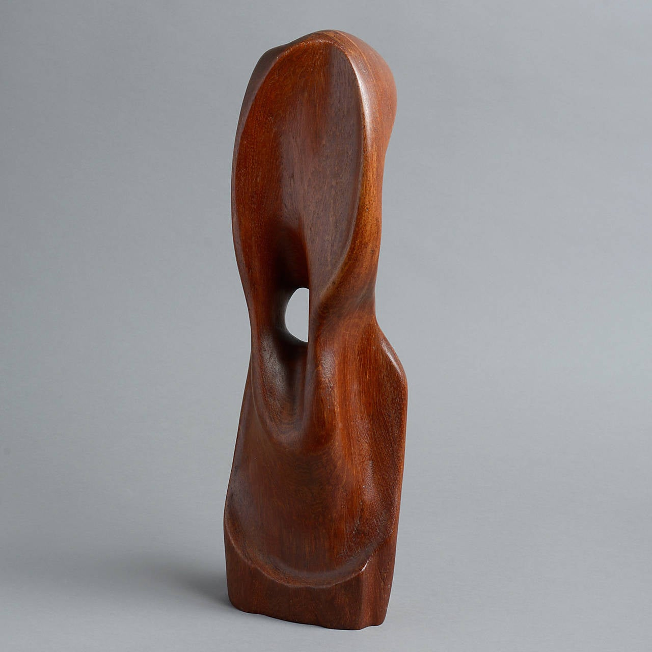 Mid 20th Century Modern British Teak Sculpture At 1stdibs