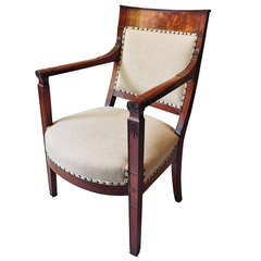 An Early 19th Century Empire Period Fauteuil