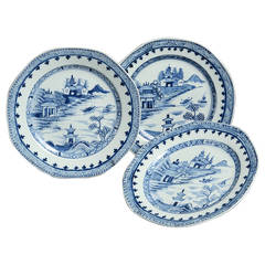 Set of Three 18th Century Chinese Export Plates