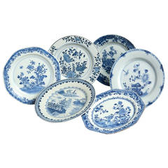 Collection of Six 18th Century Chinese Export Porcelain Plates