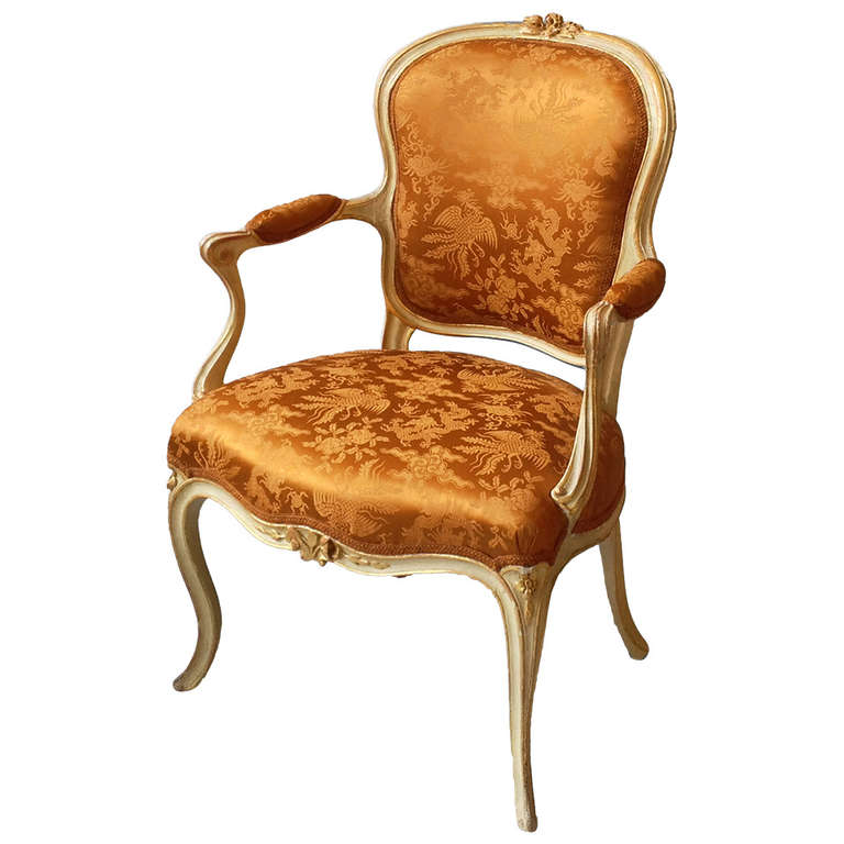 Louis xv painted salon armchair at 1stdibs for Salon louis 15