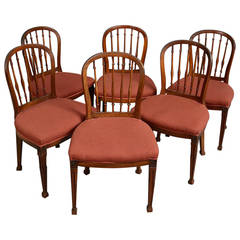 Set of Six 18th Century Mahogany Side or Dining Chairs