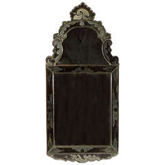 18th Century Venetian Etched Glass Mirror