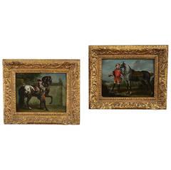 Circle of Johann Elias Ridinger Pair of Equestrian Portraits