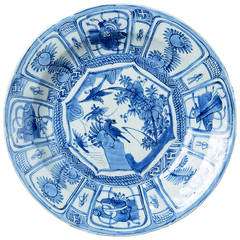 Early 17th Century Blue and White Kraakware Charger