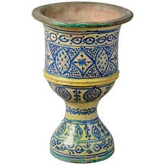 A 19th Century Polychrome Moorish Vase