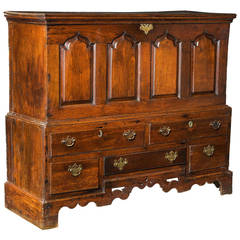 Mid-18th Century Oak Mule Chest
