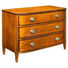 George III Period Satinwood Chest of Drawers