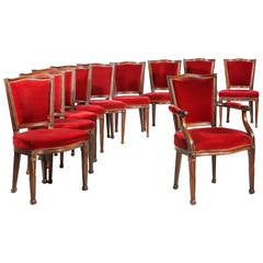 Set of Eighteen 19th Century Dining Chairs