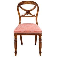 Fine Late Regency Period Side Chair