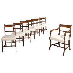 Set of Eight Regency Dining Room Chairs