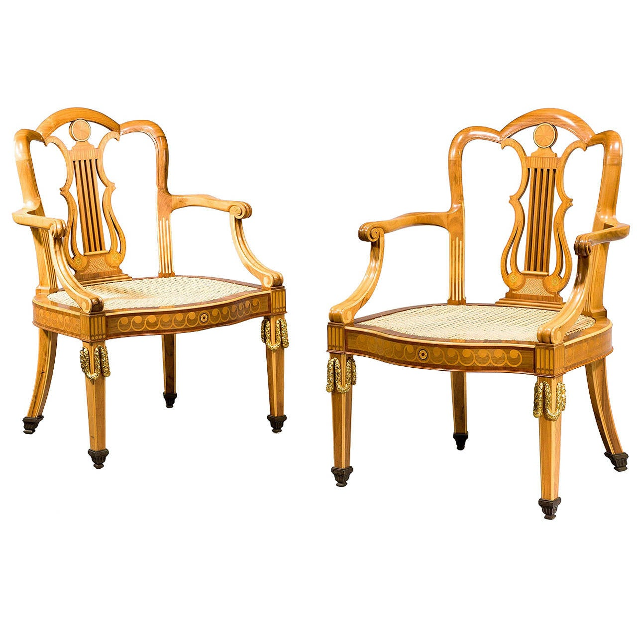 Pair of Early 20th Century Elbow Chairs