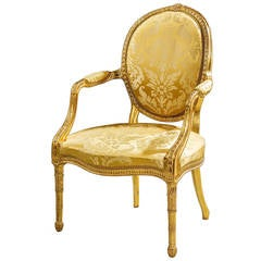 Chippendale Period Giltwood Armchair