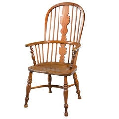 Mid-19th Century Elm and Ash High Back Windsor Chair
