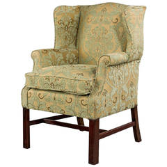 20th Century Mahogany Framed Wing Chair