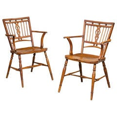 Pair of 18th Century Mendlesham Windsor Chairs