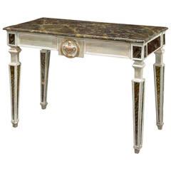 Italian Faux Marble Pier Table